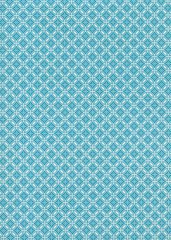 Mizuki turquoise et blanc (50x70)