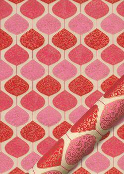 """Goutte"" rouge rose et or (50x70)"