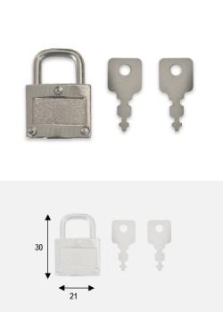 Cadenas argent + clés