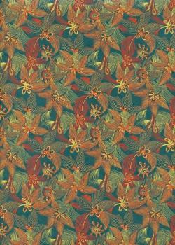"""Jungle"" fond vert amazone (50x70)"