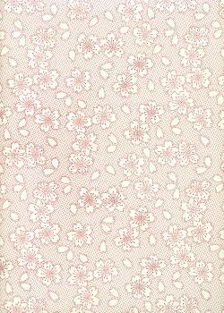 Hanami rouge et blanc (50x70)