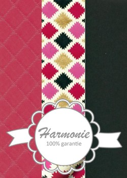 HARMONIE TRIO Carreaux stylisés ambiance framboise