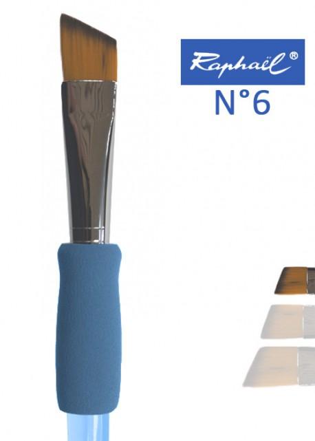 Pinceau à colle biseauté en nylon Raphael manche ergonomique très souple N°6