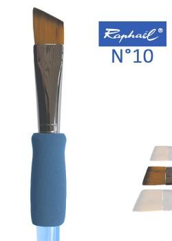 Pinceau à colle biseauté en nylon Raphael manche ergonomique très souple N°10