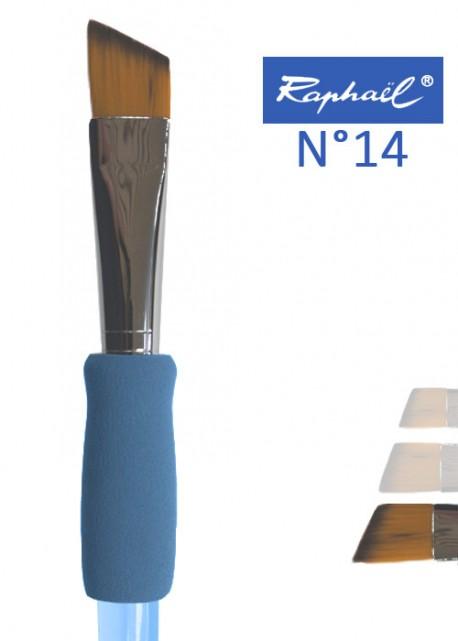 Pinceau à colle biseauté en nylon Raphael manche ergonomique très souple N°14