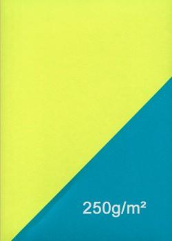 Papier recto verso anis et bleu (50x70)