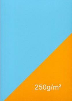Papier recto verso orange et bleu clair (50x70)