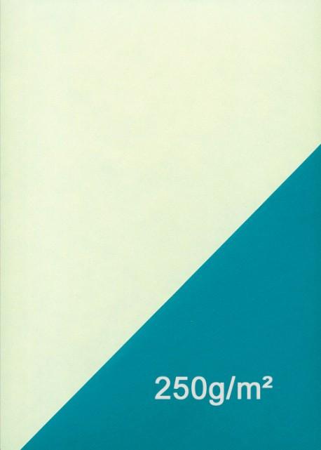 Papier recto verso nuageux vanille et bleu (50x70)