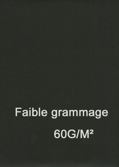 """Papier uni """"Basic"""" noir -fin grammage- (50x65)"""