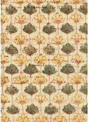 Eventail de fleurs fond beige (70x100)