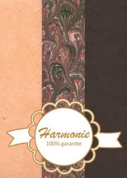 HARMONIE TRIO Marbré ambiance brun et rouge