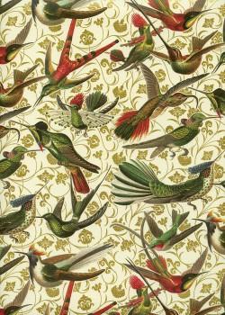 Envol de colibris réhaussé or (70x100)