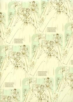 Les robes de mariées réhaussé or (70x100)