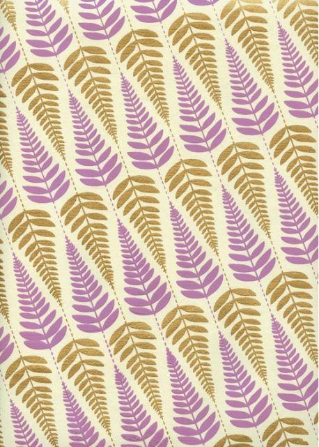 Feuilles mauves et or (50x70)