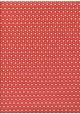 Mini coeurs framboise, ivoire et or fond rouge (50x70)