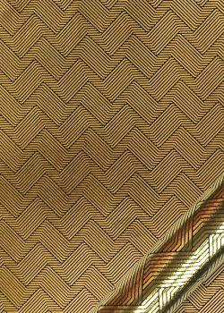 Entrelacs or vif fond noir (50x70)