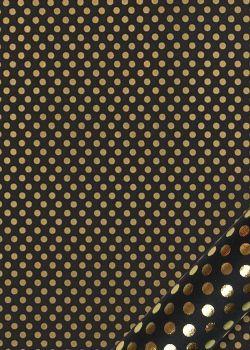 Pois or vif fond noir (50x70)