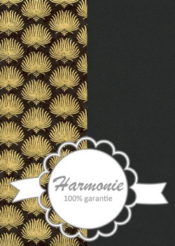 HARMONIE DUO Palmes or fond noir
