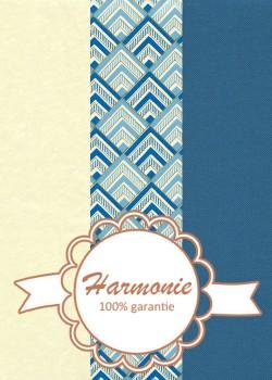 HARMONIE TRIO Angle bleu et or