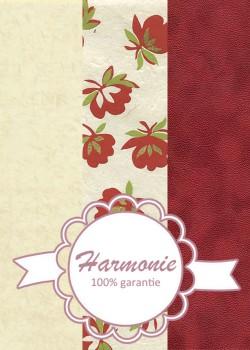 HARMONIE TRIO Pivoine rouge et verte réhaussée or