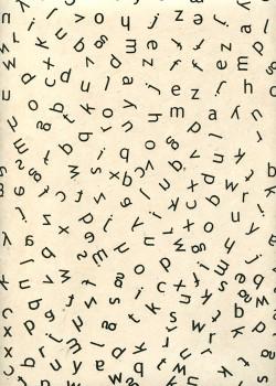 Lokta les lettres noires fond ivoire (50x75)