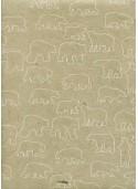 Lokta les ours blancs fond beige (50x75)