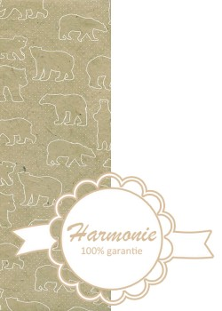 HARMONIE DUO Les ours blancs fond beige