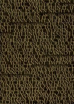 Lokta les écritures or fond noir (50x75)