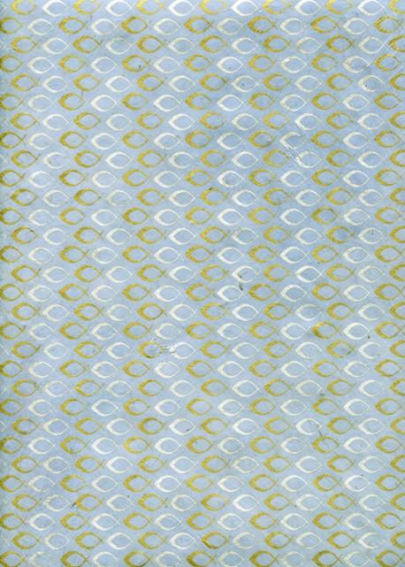 Lokta petits poissons or et argent fond bleu gris (50x75)