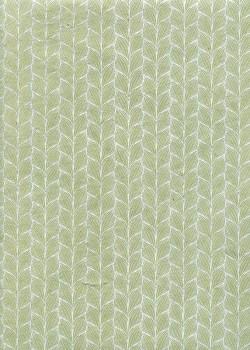 Lokta frises argent fond gris vert (50x75)