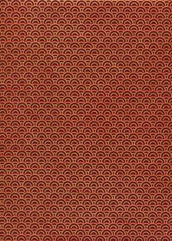 Lokta arc en ciel noir et or fond rouge (50x75)