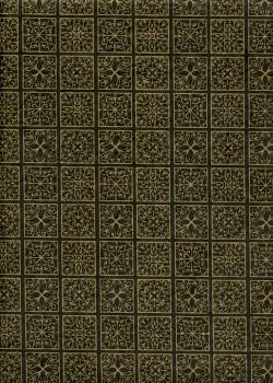 Lokta carreaux de mosaique or fond noir (50x75)