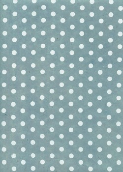 Lokta pois blancs fond bleu clair (50x75)