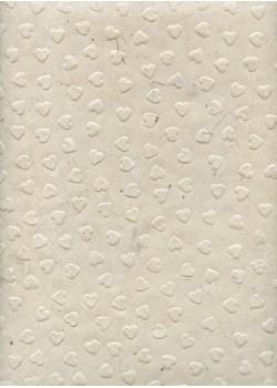 Papier lokta coeurs en relief (50x75)