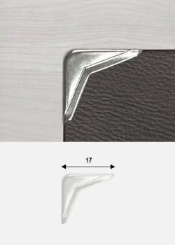 Angles obtus argent (16x16mm