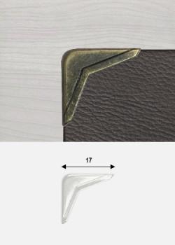 Angles obtus bronze (17x17mm)