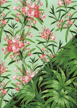 """Recto verso """"Les bouquets roses / les feuillages"""" (50x70)"""