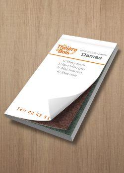 Nuancier Damas (12x6cm)