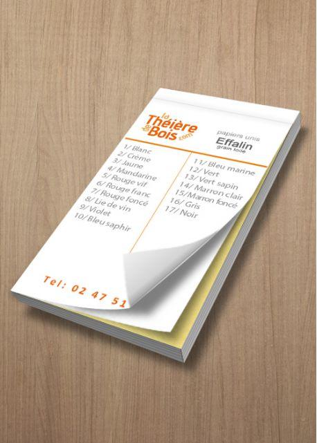 Nuancier Papiers Effalin Toilé (12x6cm)