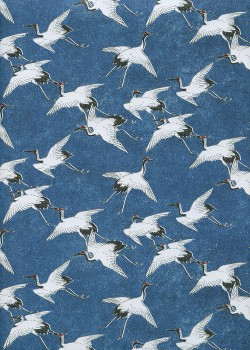 Les grues sur fond bleu (50x70)