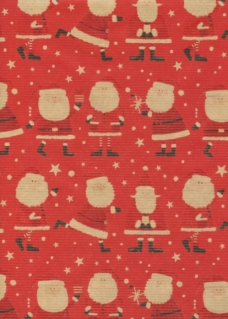 """Kraft fantaisie"" père-Noël fond rouge (70x100)"
