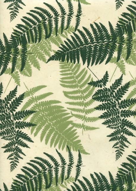 Lokta les feuilles de fougère ambiance verte (50x75)