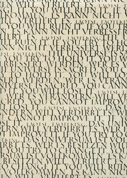 Lokta les écritures noires fond naturel (50x75)