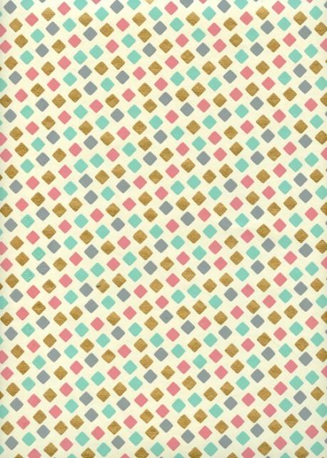 Conffetis multicolore réhaussé or (50x70)