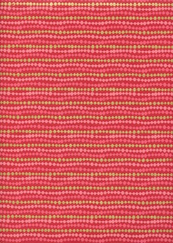 Guirlande de perles roses et or fond rouge (50x70)