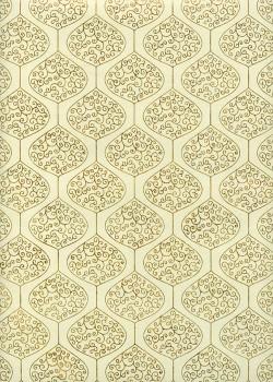 Gouttes avec arabesques or sur fond crème (50x70)