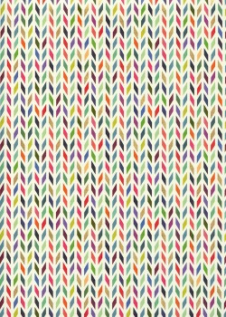 Chevron multicolore réhaussé or (49,5x68)