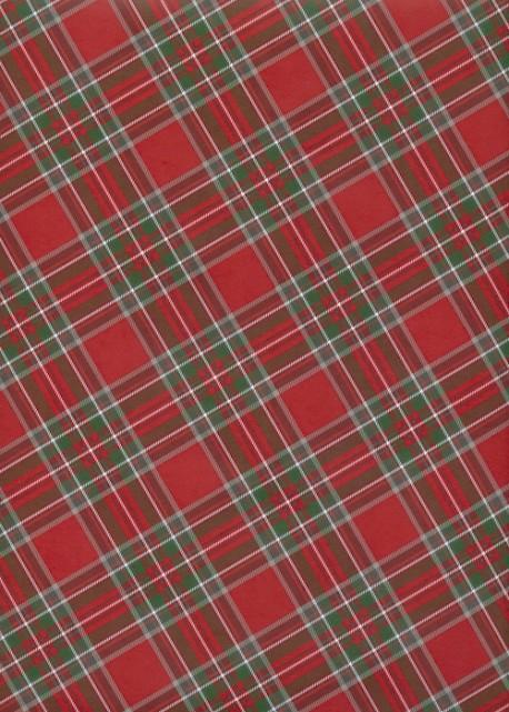 L'écossais de Noël fond rouge (68x98)