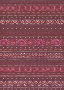 Frises de Noël fond bordeaux (48x68)