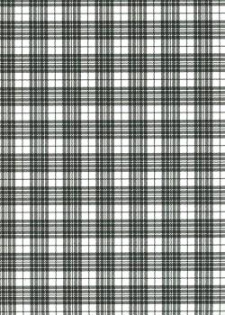 """Tartan"" noir et blanc (50x70)"